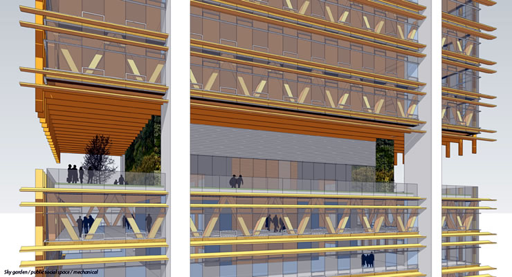 40-этажное деревянное офисное здание. Фрагмент