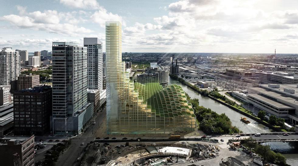 Мега-проект Big Wood деревянного небоскреба в Чикаго