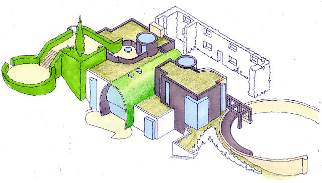 Даунли Хаус. Аксонометрический рисунок